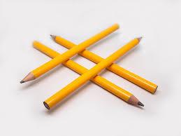 Hashtag fait avec des crayons