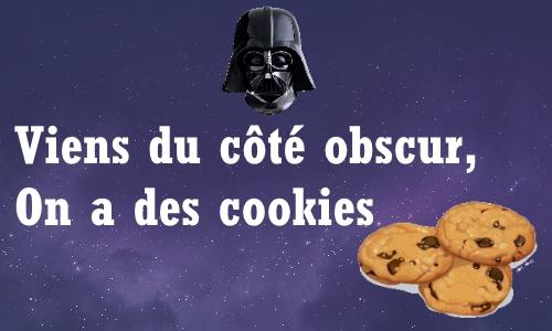Viens du côté obscur, on a des cookies
