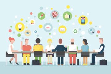 Réunion pour trouver des idées pour le blog ou les réseaux sociaux