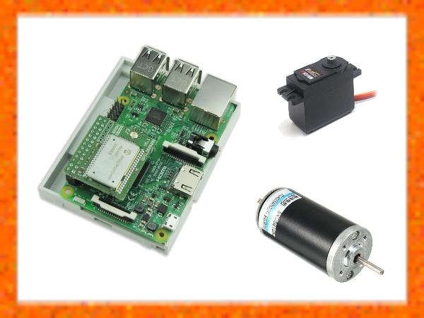Baspberry Pi, moteur courant continu et servomoteur