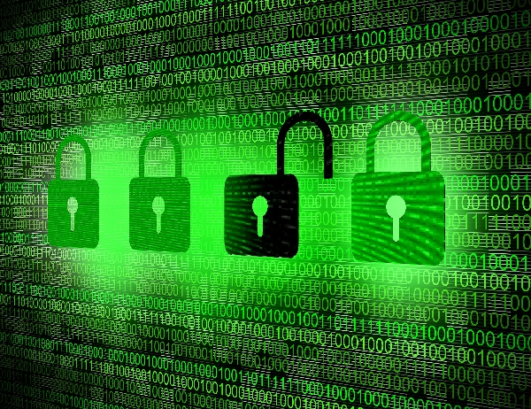 cyber sécurité - serrure sur un ecran digital
