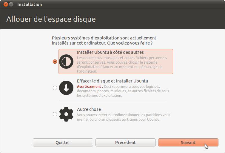 ubuntu lenovo allouer espace disque