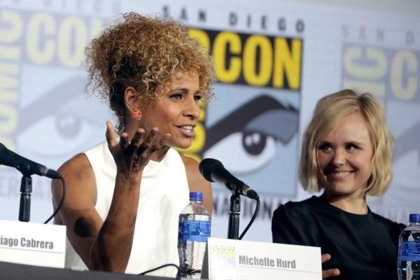Michelle Hurd et Alison Pill lors du Comic Con de San diego pour la série Star Trek Picard